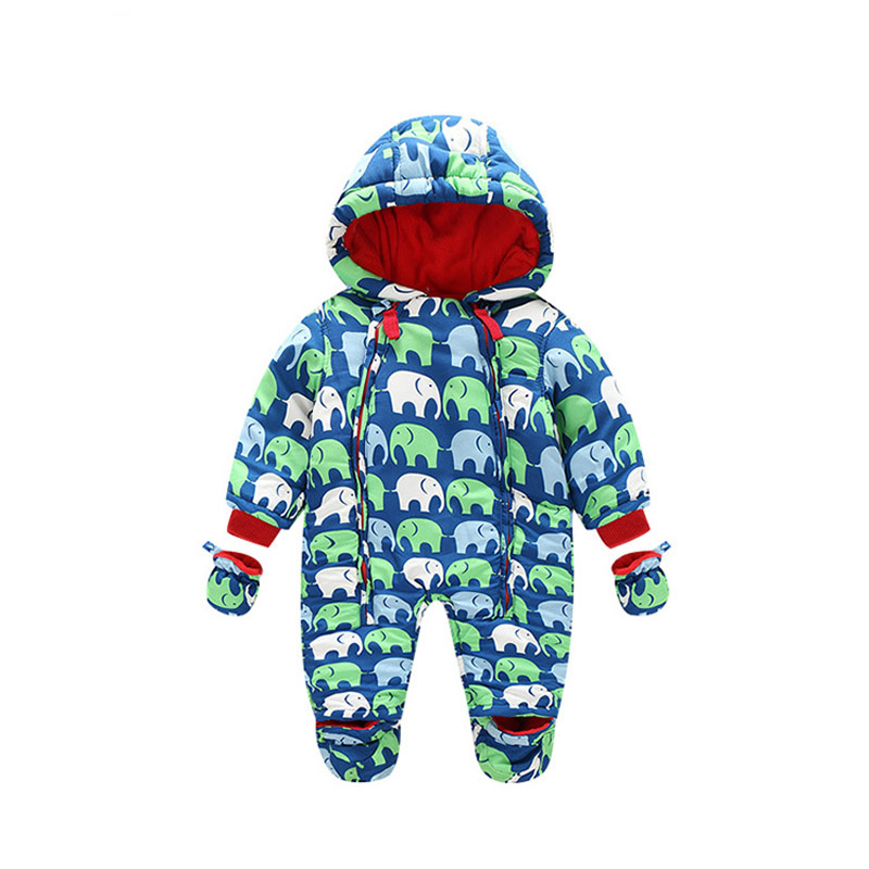New Baby Rompers Winter Thick Warm Baby boy Clothing Long Sleeve Hooded Jumpsuit Infant Baby Girls Clothes Kids Newborn Outwear winter newborn bear jumpsuit patchwork long sleeve baby rompers clothes baby boys jumpsuits infant girls clothing overall