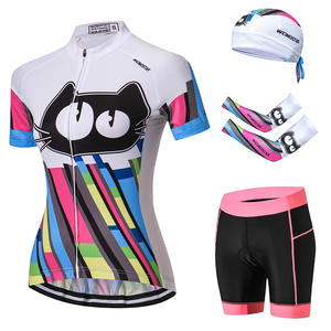 e7aa67d81 Cycling Clothing + shorts + arm warmer Quick Dry Cat White WOMEN Summer arm  Sleeve