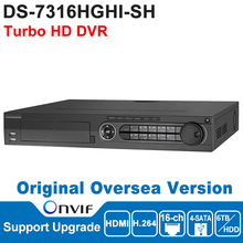DS-7316HGHI-SH Hik DVR 16CH Turbo HD DVR TVI DVR H.264 Up to 2MP resolution, Two-way audio, Up to 6 TB capacity for HDD