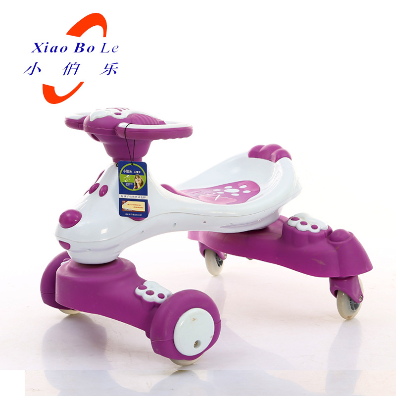 Free Shipping Small new children car Bole twist car car yo swing car driving four wheel slip for children aged 1-3 купить