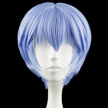 EVA Ayanami Rei Kurze Licht Blue Heat Resistant Haar Cosplay Kostüm Perücke + Freie Wig Cap