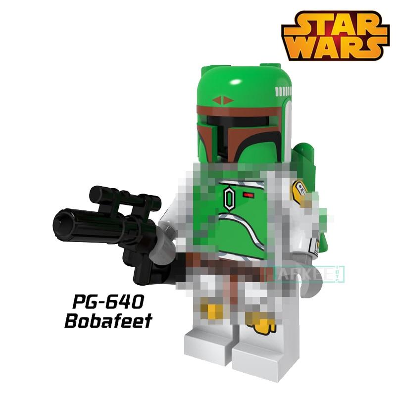 PG640 Green Bobafeet Cloud City Star Wars Building Blocks Super Heroes Avengers Bounty Hunter Classic Models Bricks Kids Toys