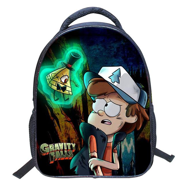 Nova Gravity Falls Pouco Crianças Mochilas Impressão Sacos De Escola Do Jardim de Infância Dos Desenhos Animados Mochila para Meninos Das Meninas Mochila Infantil