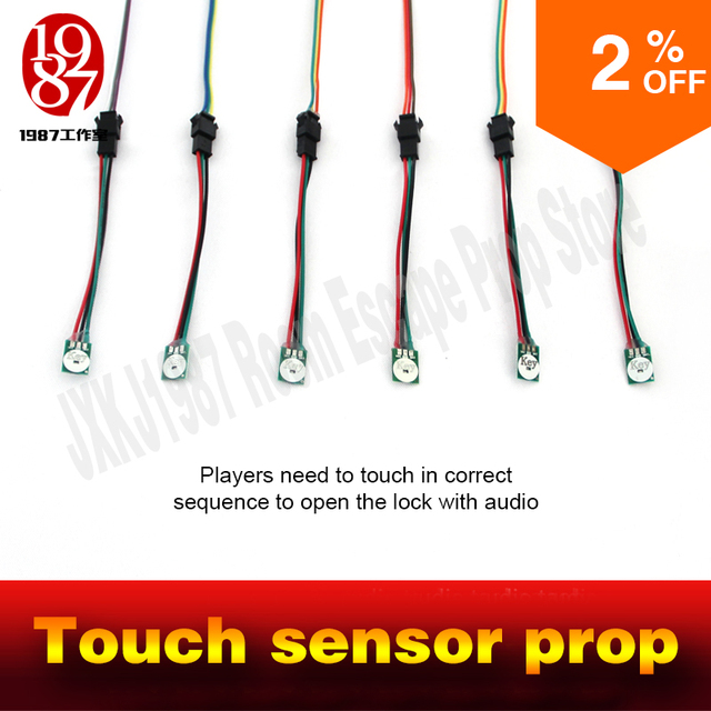 Room escape peop touch sensor prop touch in correct sequence to unlock real life adventure game props jxkj1987 chamber room