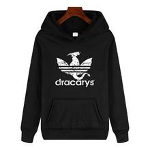 Dracarys2019 new retro wind hoodie power game Daenerys Drogon Fire print hooded sweatshirt men and women pullover pullover