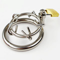 Small Stainless Steel Chastity Cages Male Chastity Cage Stainless Prevent Erectile Thrusting Slave Penis Adornment