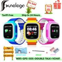Funelego GPS Smart Baby Watch For Childer Q66 Touch WIFI Location Locator Tracker Kids Safe Anti