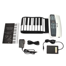 Professional 88 Keys MIDI Keyboard Roll Up Piano Portable Soft Keys Instruments