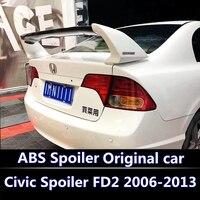 For Honda Civic 2006 2015 Spoiler High Quality ABS Material Car Rear Wing Primer Color Rear Spoiler For Honda Civic Spoiler FD2