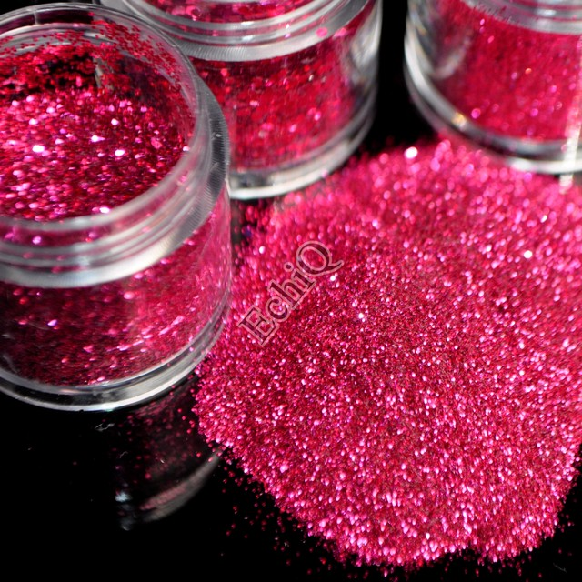 Online Shop Bright Hot Pink Nail Art Glitter Powder 3D Nail Sequins ...