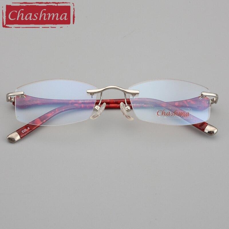 Image 2 - Chashma Brand Designer Ultra Light Glasses Rimless Eyeglasses Female Prescription Spectacles Quality Titanium Frames for Women-in Women's Eyewear Frames from Apparel Accessories