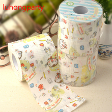 2Packs 60m colored flower Printing Toilet Paper Tissues Roll Novelty Tissue Wholesale