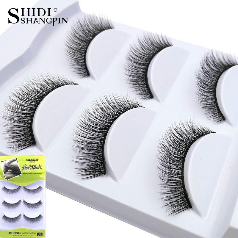 New 3 Pairs Fake Lashes Makeup Beauty Eyelash Extension Super Soft 3D False Eyelashes Lashes for maquillage #102