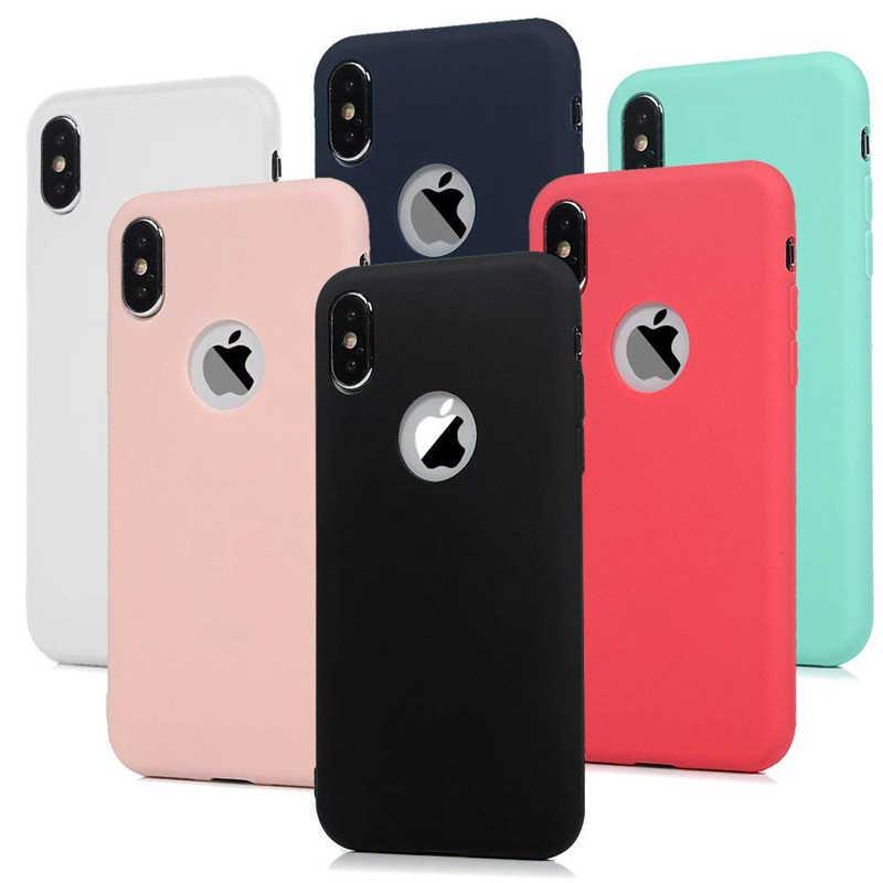 Capa de silicone para iphone, capa macia para iphone x, 11, pro, max, 8, 7, 6, 6s, plus, xr, xs capa protetora de telefone flexível, de gel