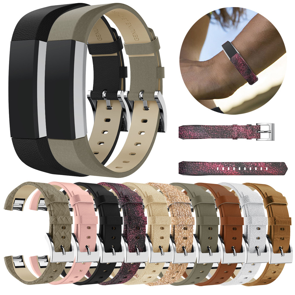 Classic Leather Replacement Bands With Metal Connectors For Fitbit Alta/Alta HR Replacement Smartwatch Sporting Goods Accessorie