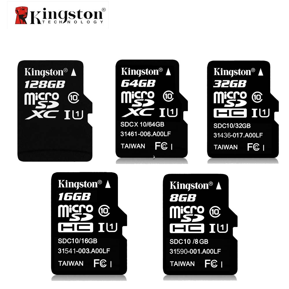 цена Kingston Class 10 Memory Card 8GB 16GB 32GB 64GB 128GB Micro SD Card 32G TF Card Microsd SDHC SDXC 48M/S With Adapter And Reader
