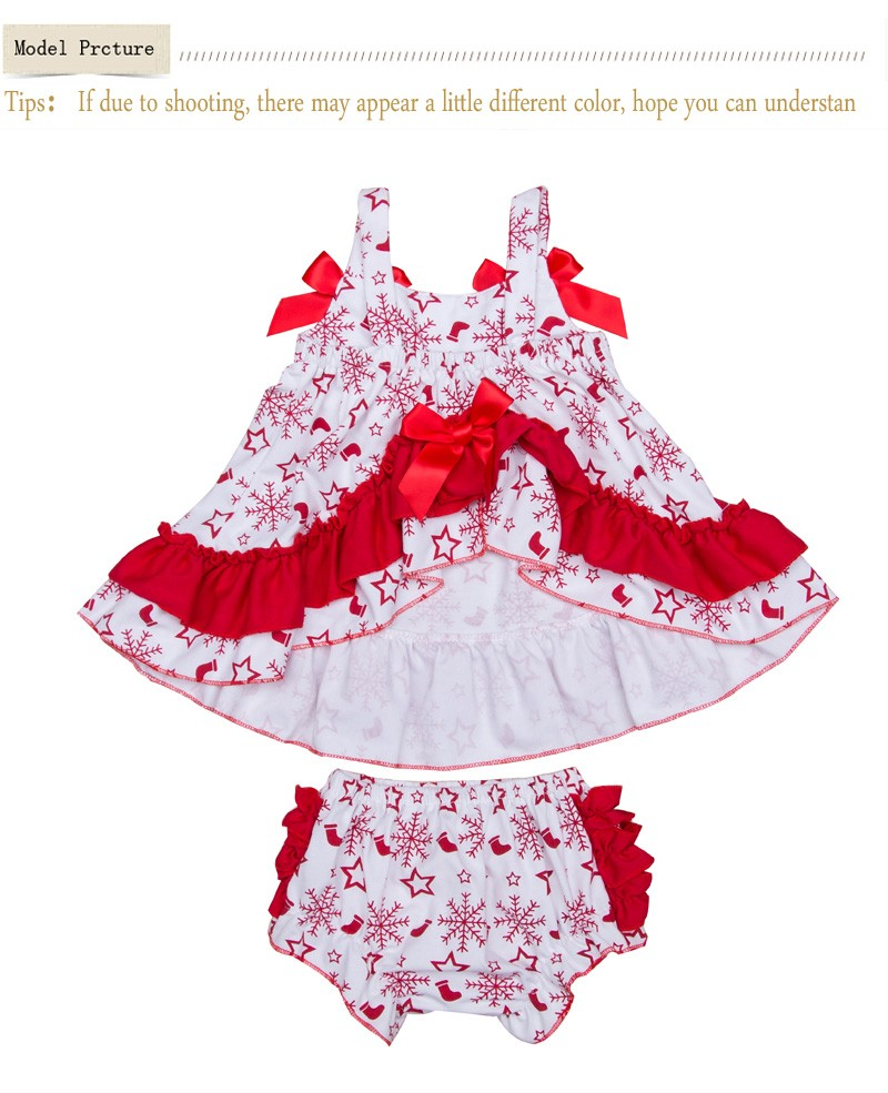 Christmas Clothes Newborn Baby Swing Top Girl Snowflake Ruffle Sling ... 7220480666e7