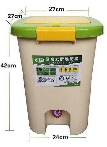 Baril de KOKASHI d'utilisation à la maison de seau de 21L BOKASHI pour la fermentation de déchets alimentaires pour l'usage organique de jardin de fumier