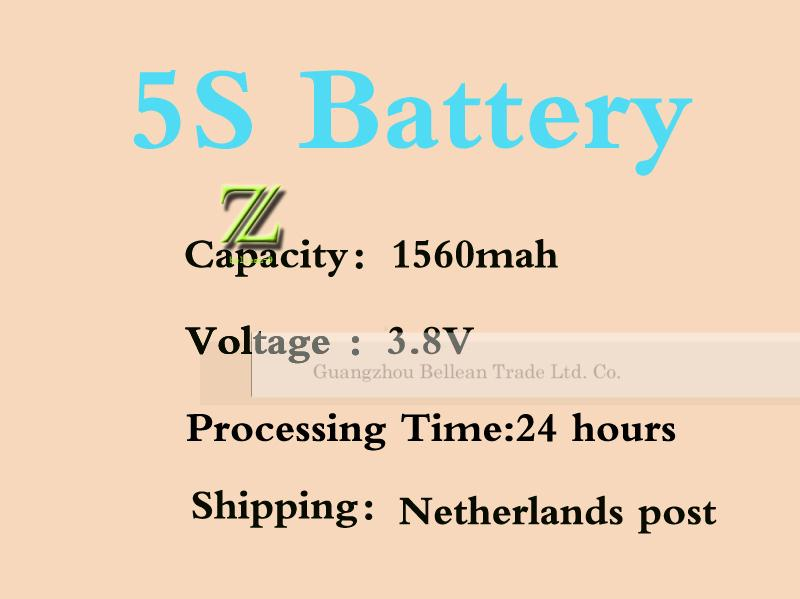 Portable Mobile Phone Battey 1560mAh 3.8V Replacement Internal Battery for Apple iPhone 5S Rechargeable Battery