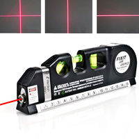 Laser Aligner Horizon Vertical Cross Line Measure DIY Laser Guide Leveler Straight Project Line Measuring Level