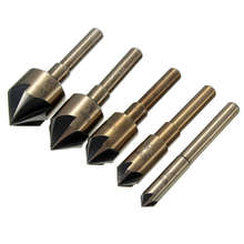 5 pieces of 82 degrees to the flash tip drill bit chamfering sleeve 1/4 inch 3/8 1/2 5/8 3/4 high quality