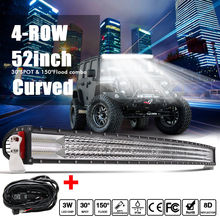 CO LIGHT 52 Inch 924W Auto LED Work Light Bar Curved 8D Flood Spot Combo Offroad Driving Light For Car Truck PickUp 4X4 SUV 12V