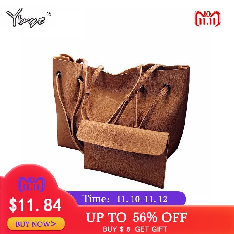 YBYT бренд 2018 Новый Повседневная Женская обувь мужская тотализаторов композитный сумки женская сумка Лидер продаж Простой Большой ёмкость свежий