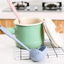 4 цвета, 2 в 1, креативные инструменты, длинная ручка, ложка для супа, каша, половник, фильтр, для дома, кухни, инструменты для приготовления пищи, новинка