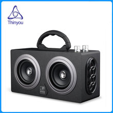 Thinyou Wooden Wireless AUX Bluetooth Box Speaker 10W *2 Mini Portable Dual Loudspeakers Outdoor Speakers PC altavoz