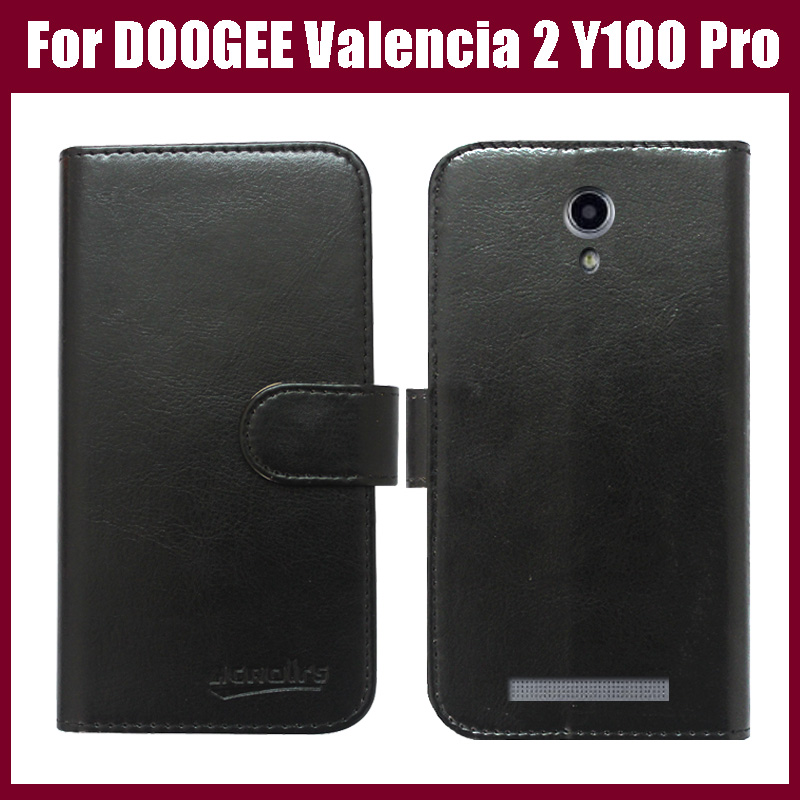 New Arrival! High Quality Stand Flip Leather Phone Case Cover For <font><b>DOOGEE</b></font> <font><b>Valencia</b></font> <font><b>2</b></font> <font><b>Y100</b></font> <font><b>Pro</b></font> Phone Case Six Colors in stock image