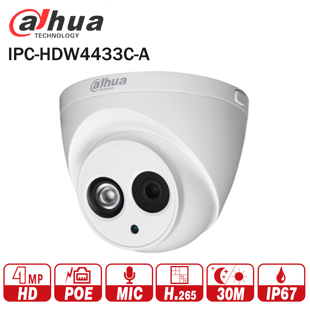 DaHua IPC-HDW4433C-A Aggiornamento da IPC-HDW4431C-A POE Network IR Mini Dome IP Camera Con Built-In Micro 4MP Telecamera A CIRCUITO CHIUSO