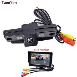 Tahan Air CCD Mobil Reverse Backup Kamera Belakang untuk Subaru/Forester/Pedalaman 2007-2012/Sedan/ TRIBECA dengan 4.3