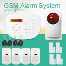 Freeship by DHL Wi-fi Surveillance Alarm Good Alarm GSM Alarm Intrusion Alarm Wi-fi Monitor System With Strobe Siren