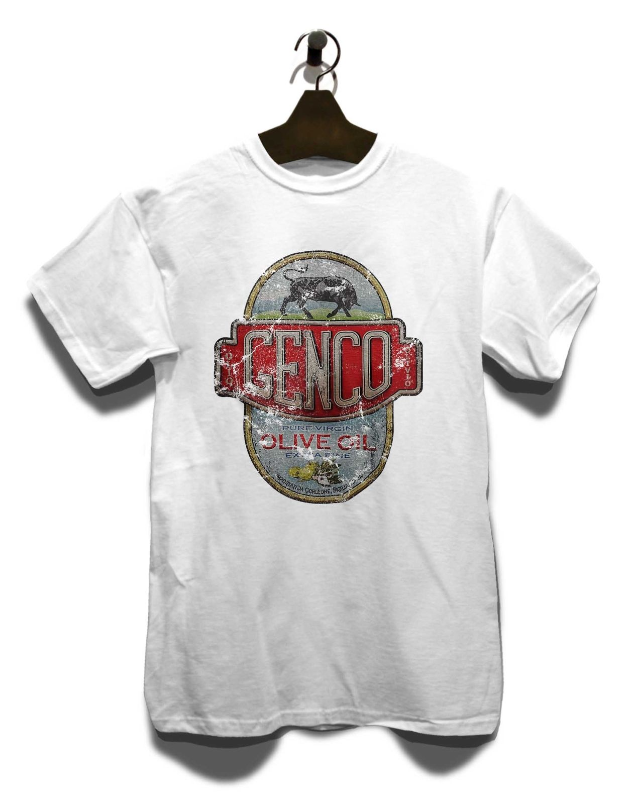 Genco Oil Company T-Shirt Mafia Pate Gangster Oldschool Vintage Retro