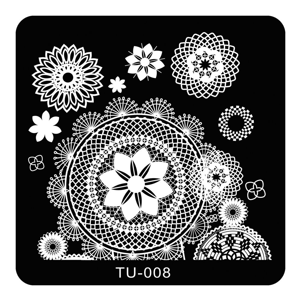 Large Circle Flower Lace Pattern Nail Art Stamp Stamping Plates ...