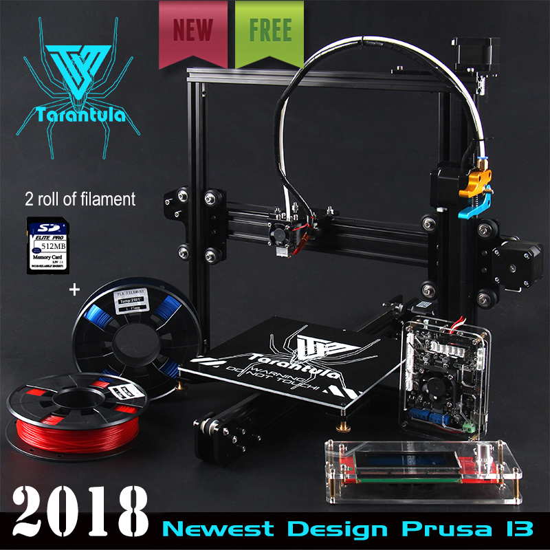 цена на Cheap TEVO Tarantula I3 Aluminium Extrusion 3D Printer kit printer 3d printing 2 Rolls Filament 512MB SD card LCD As Gift