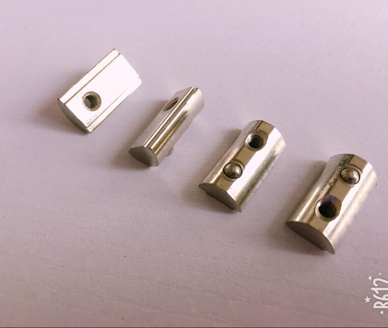 M4//M5//M6//M8 T Roll-in T Slot Nut Groove 8 Aluminum Accessory For 30 Series 10PCS
