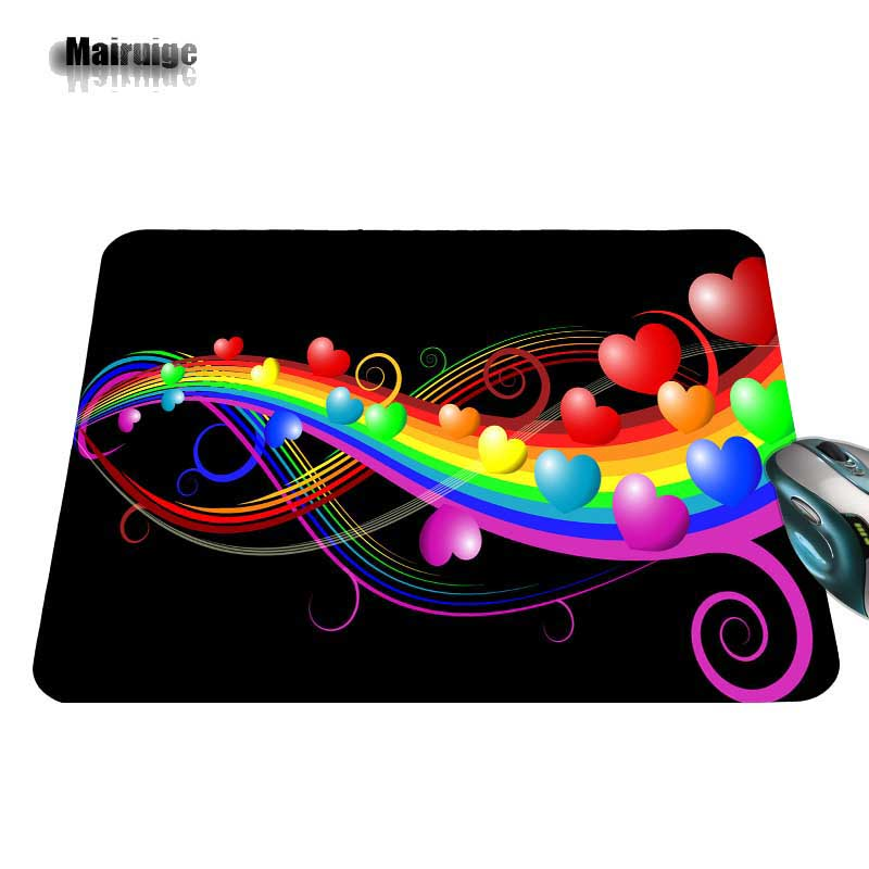 Customized New Arrival Luxury Print Love Music Game Design Gaming PC Anti-slip Black Mouse Mat for Optical/Trackball Mouse