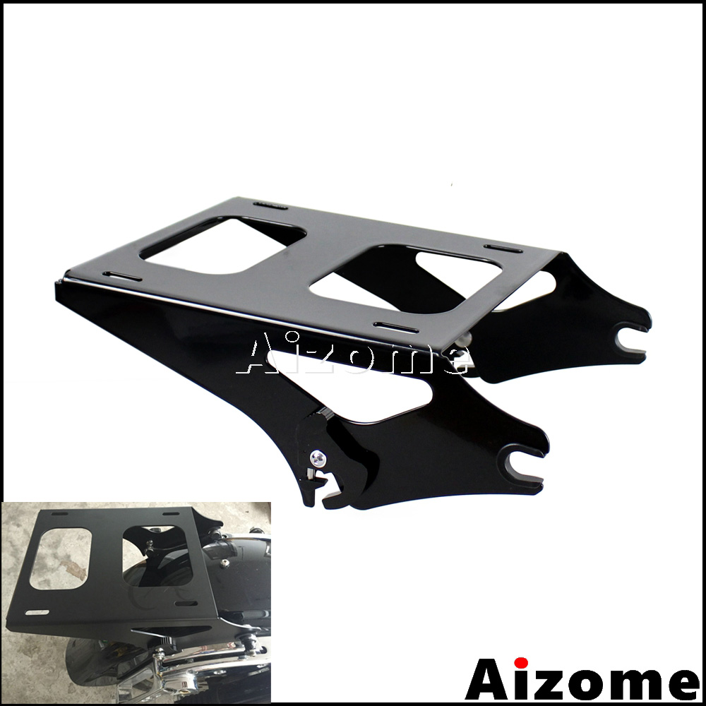 Two up Detachable Mount Luggage Rack For Harley Road King Street Glide Road Glide Tour Pak