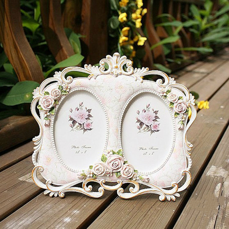 Pastoral Resin Double sided 5 Inch Double Frame Photo Frames European and American Style Craft Gifts