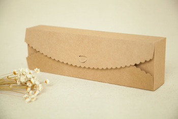 100pcs 23*7*4cm Brown Packaging Kraft Paper Macaron Box For Candy\Cake\Jewelry\Gift\chocolate Packing boxes