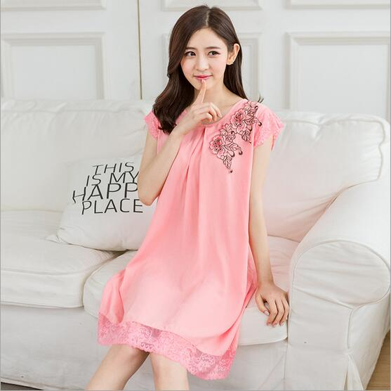 c38c6d26457 Princess Nightgown Women Summer Dress Sexy Nightdress Women Nightwear Dress  Sleeveless Rose Red Shrimp Blue Nightgowns Q320-in Nightgowns   Sleepshirts  from ...