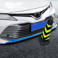 stainless steel Front Bumper Protector Guard Lid Fog Cover Molding Cover Trim For 18 Toyota Camry 2018 2019