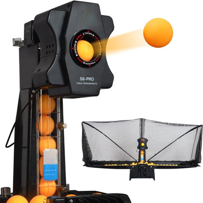100 Bolas de Pingue-pongue Presentes Servir Máquina de Esportes de Raquete de Tênis de Mesa Inteligente Tela Net Acessórios de Equipamentos de treinamento S6-PRO