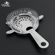 лучшая цена Cocktail Shaker Bar Ice Strainer Wire Mixed Drink Stainless Steel Colander Filter Bartender Accessories Bar Tools