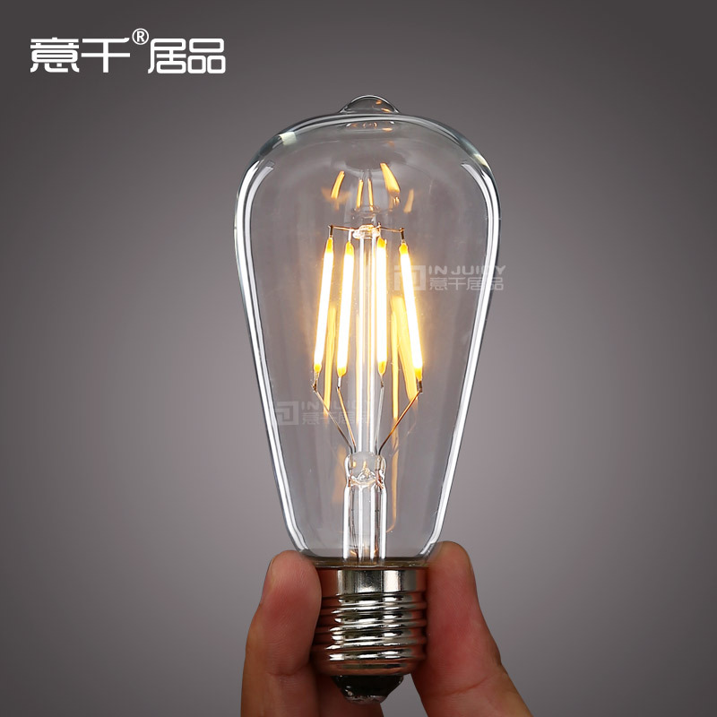 Light Bulb Industry: 6PCS LED 360 4W E27 Filament light bulb old fasioned ST64 Edison Bulb  Industrial Lamp Store,Lighting