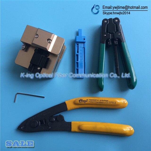 6 ШТ. FTTH Напольный кабель стриптизерши + DVP106 волокно нож Волокна Кливер + CFS-2 Волокна зачистки плоскогубцы + Волокна оптический фиксированной длины