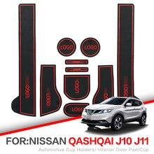 ZUNDUO Porta slot pad Per Nissan Qashqai J10 J11 2007-2018 Porta per Interni Pad Portabicchieri Auto Non- tappetini antiscivolo ROSSO BIANCO