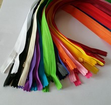 can choose the colors 3# invisible zipper nylon 60cm 5pcs  for DIY repair sewing clothes dress garment accessories