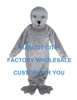 Good Customized Grey Seal Mascot Costume Sea Animals Mascota Outfit Suit Fancy Dress Party Carnival Advertising Costume SW696